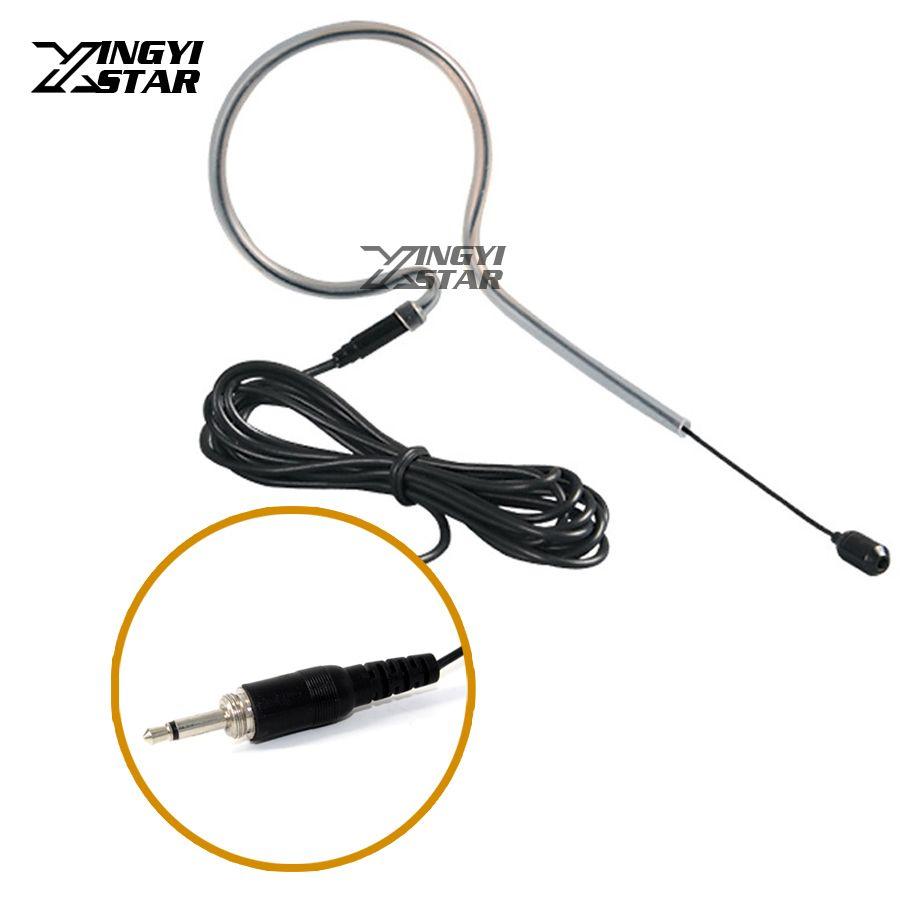 Simple Earhook Filaire Microphone À Condensateur 3.5mm Vis Fil Connecteur Mic Mike Pour Système Sans Fil Émetteur de poche