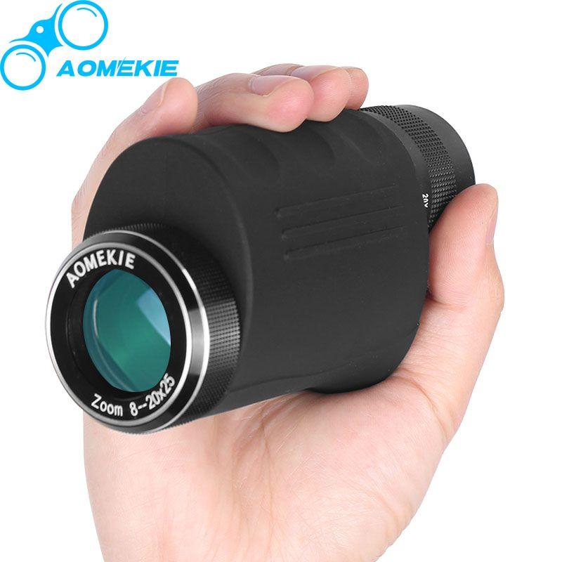 Компактный 8-20x25 Увеличить Монокуляр HD оптический Стекло высокое Мощность наблюдение за птицами Охота телескоп Портативный Зрительная труб...