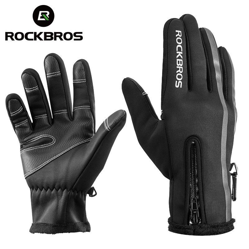 ROCKBROS gants de Ski thermique hommes femmes hiver Ski polaire imperméable Snowboard gants écran tactile neige moto mitaines chaudes