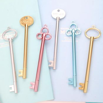 15 Pcs/Lot Key Shape Gel PensFashion Girl Pen for School Stationery Office Supplies Student Learning Writing Pen Free Shipping