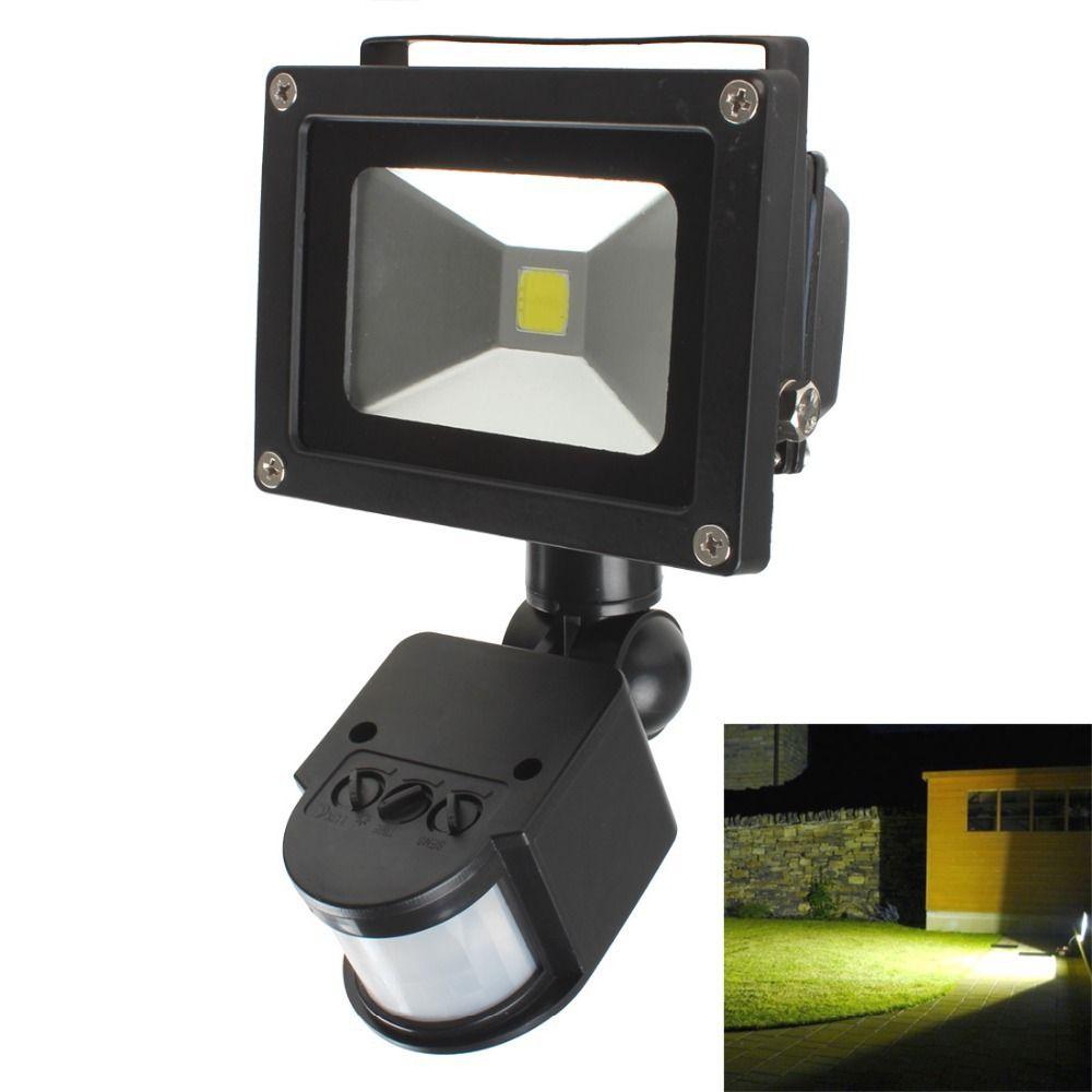 20W PIR corps infrarouge détecteur de mouvement LED lumière de jardin lumière d'inondation chemin lampes murales AC 85-265V étanche lampe de paysage en plein air