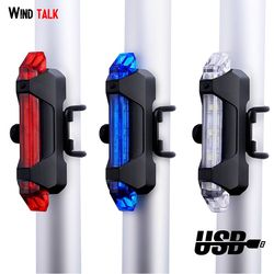 Wind Talk Waterproof USB Rechargeable Bicycle Tail Light 4 Modes Back Bike Flashing Safety Warning Lamp Bicycle Rear Light