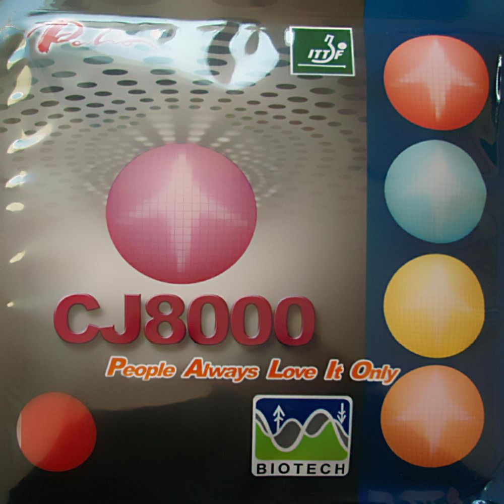 Palio CJ8000 (BIOTECH) 2-Side Loop Type pips-in table tennis / pingpong rubber with sponge (H36-38)