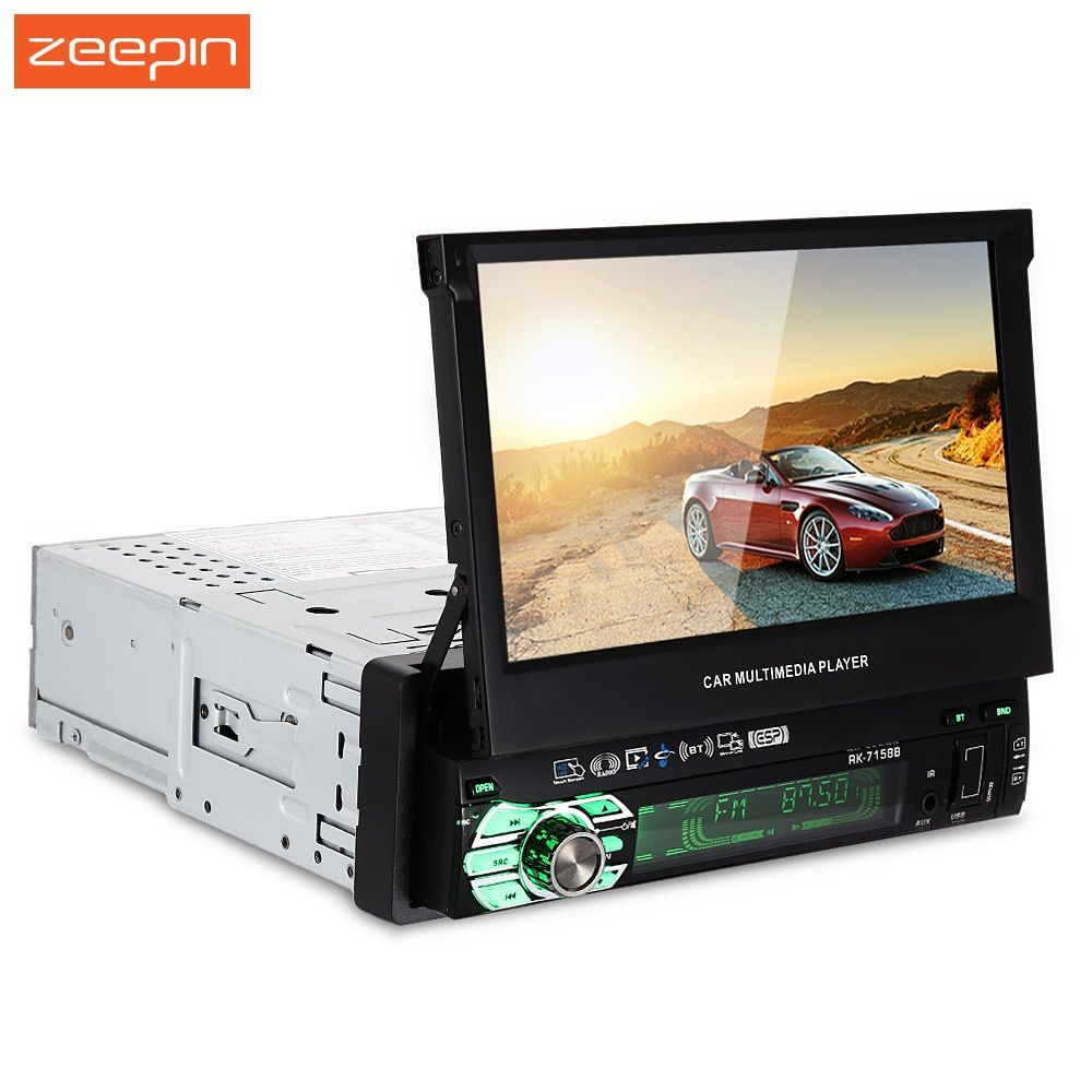 Zeepin Universal 7158B 7 inch HD Touch Screen AM and FM Stereo Radio Car Multimedia Player with Mirror Link Function