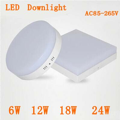 Low price New Surface mounted 6w 12w 18w 24w AC85-265V led downlight panel light 2835SMD Ceiling hallway Down lamp