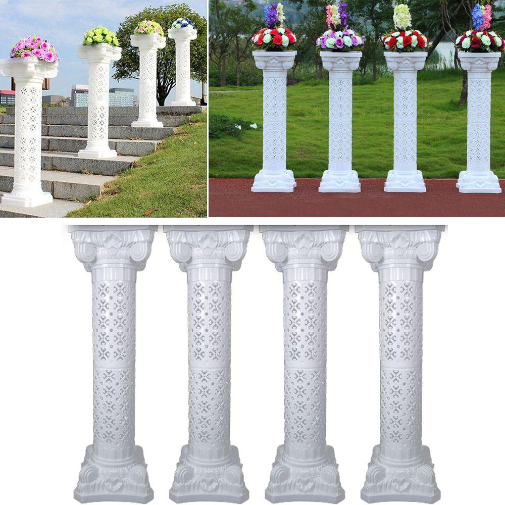 4 Sets Disassemblability Photography Props Plastic Roman Pillars Column Pedestal Party Decoration Wedding Road Lead
