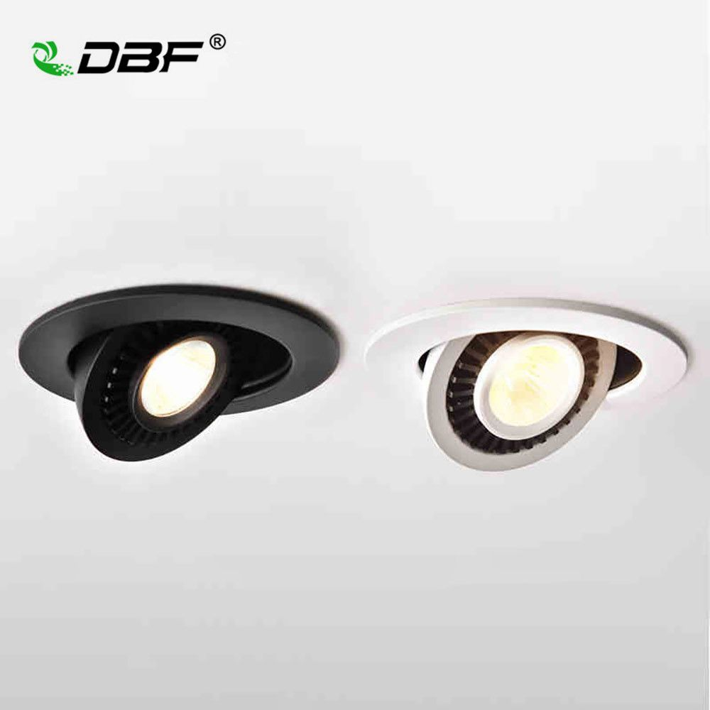 LED Ceiling Light Dimmable 5W 7W 10W 12W Spot Light Recessed ceiling lighting 360 degree rotatable COB background Spot Light