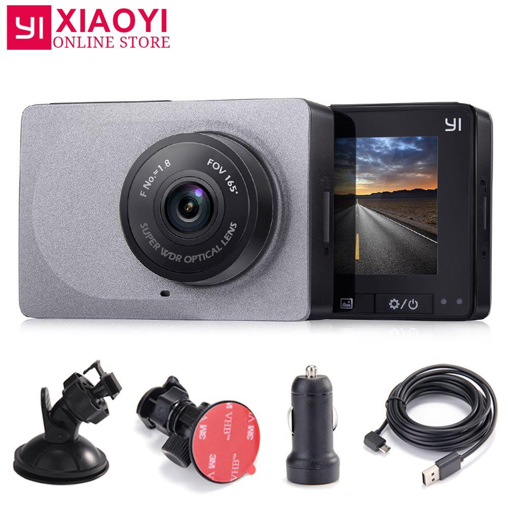 Xiaomi Yi Smart cardvr 165 градусов 1080 P 60fps детектор автомобиль 2.7