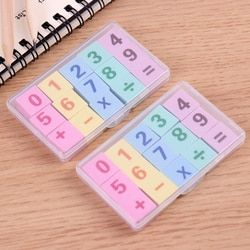15PCS/box New Creative Number Pencil Rubber Erasers for Office School Stationery Supplies Papelaria Gift For Kids