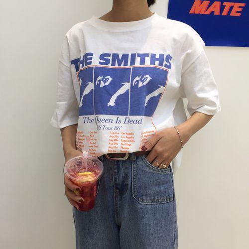 Vintage lettre imprimé casual coton blanc tout Match lâche 2018 nouvelle mode de base à manches courtes femme T-shirts
