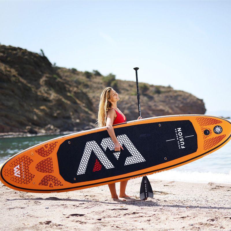 315*75*15 cm aufblasbare surfbrett FUSION 2019 stand up paddle surfen bord AQUA MARINA wasser sport sup board ISUP B01004