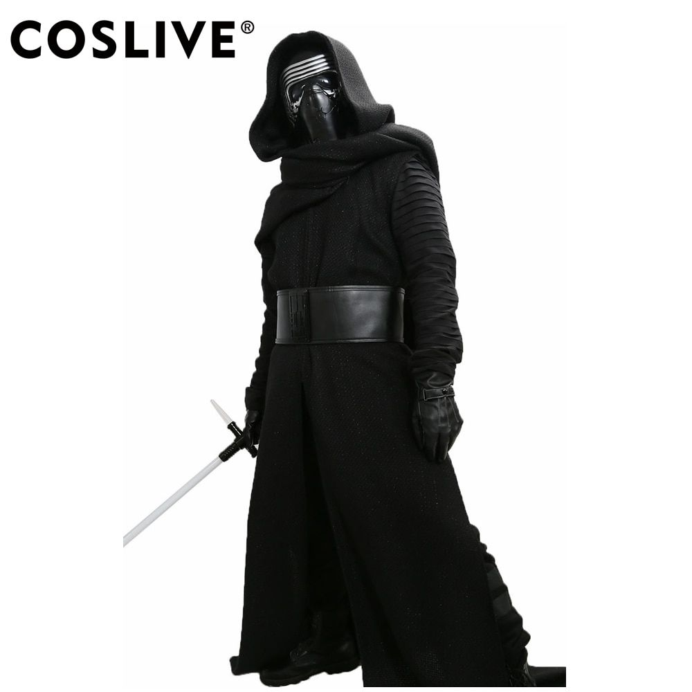 Coslive Kylo Ren Costume V3 Star Wars The Force Awakens Cosplay Villain Deluxe Kylo Ren Cosplay Completed Outfit Adult Size