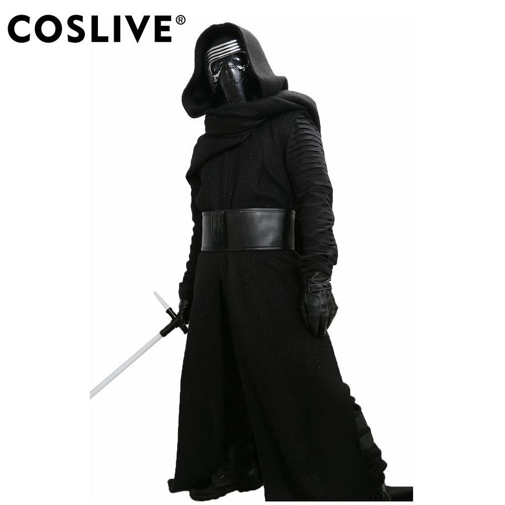 Coslive Kylo Ren Kostüm V3 Star Wars Die Kraft Weckt Cosplay Bösewicht Deluxe Kylo Ren Cosplay Abgeschlossen Outfit Erwachsene Größe