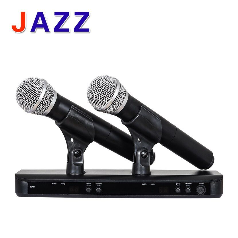 High quality BLX288/PG58 BLX88 PG58A UHF Wireless Microphone Karaoke System With PG58 Dual Handheld Transmitter UT4 TPYE Mic