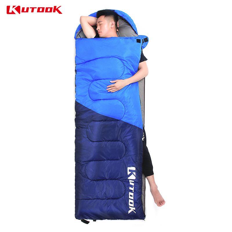 KUTOOK Portable Thermal Sleeping Bag Outdoor Waterproof Hiking Climbing Travel Camping Equipment Sports Adults Warm Lazy Bag