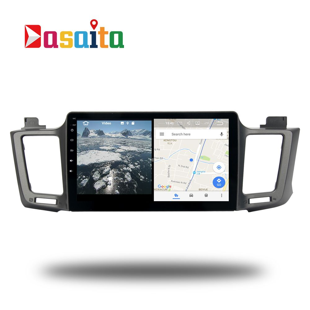 Android 7.1 stereo Head Unit für Toyota RAV4 2013-2017 RAV 4 Permanent radio GPS navi radio-headunit wifi kostenlose karte Kopf Gerät