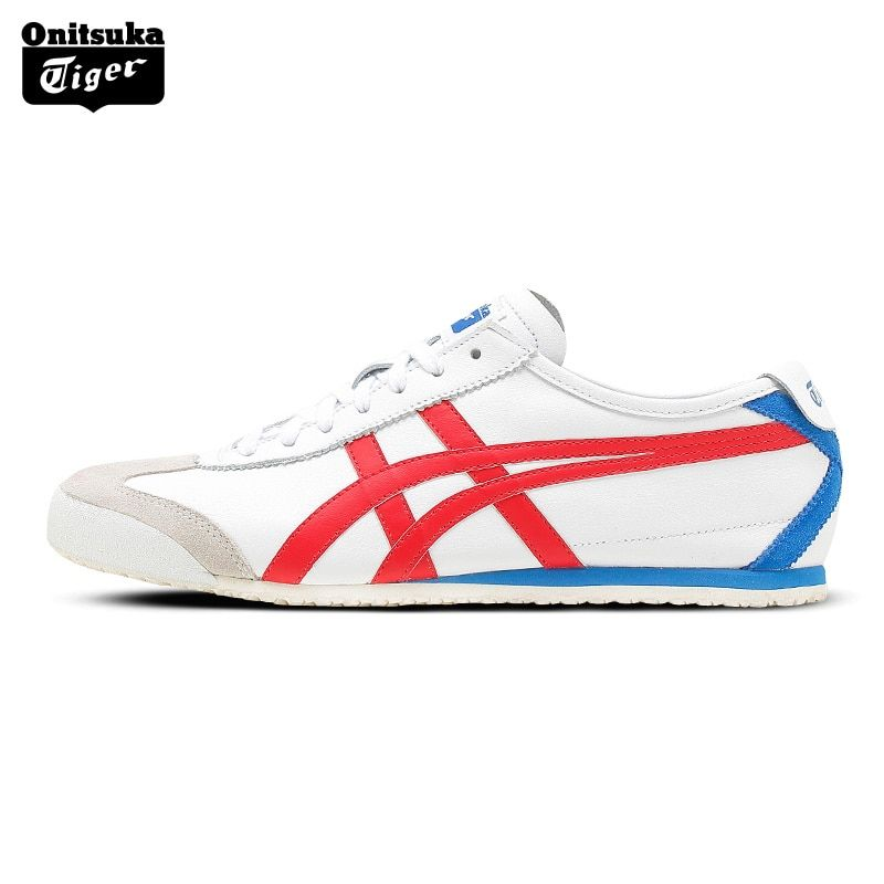 Onitsuka Tiger MEXICO 66 Outdoor Men Shoes Classic Breathable Lightweight Sports Shoes Anti-Slippery Balanced Sneakers D4J2L