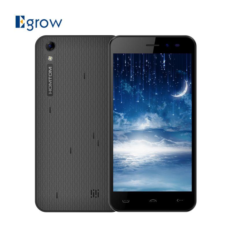 Original HOMTOM HT16 MT6580 Quad Core Cell Phones 5.0 Inch Android 6.0 Mobile Phone 1G RAM 8G ROM 3000mAh 8.0MP Smartphone