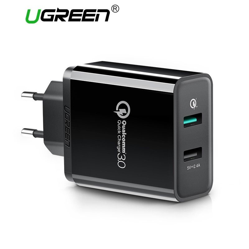 Ugreen Mobile Phone <font><b>Charger</b></font> 30W USB <font><b>Charger</b></font> for iPhone Quick Charge 3.0 Fast <font><b>Charger</b></font> USB Travel Adapter for Huawei Samsung LG