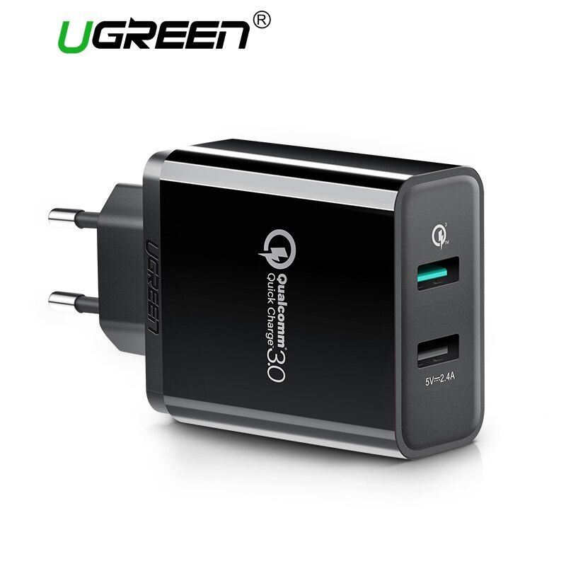Ugreen USB Chargeur Universel Charge Rapide 3.0 30 W Rapide Mobile Téléphone Chargeur (Charge Rapide 2.0 Compatible) pour Samsung Huawei LG