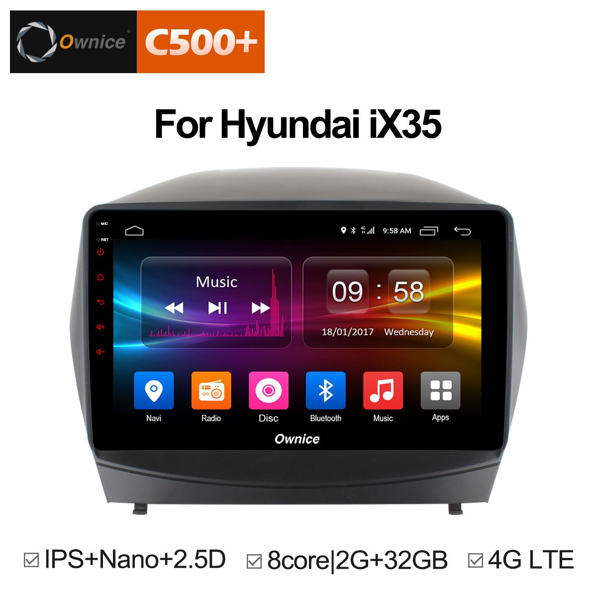 Ownice C500+ G10 Octa Eight Core Android 8.1 Car radio DVD player GPS for Hyundai iX35 2010 - 2015 2G RAM 32G ROM Support 4G LTE