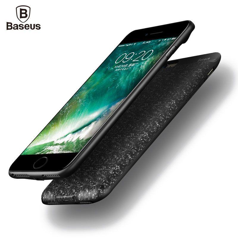 Baseus Chargeur De Batterie étui pour iphone 6 6 s 7 Plus 2500/3650 mah housse de batterie portative Ultra Mince de Batterie De Secours Externe Étui De Charge