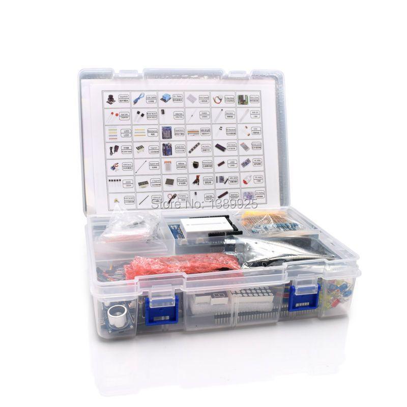 Ultimate Starter Kit including Ultrasonic Sensor, UNO R3, LCD1602 Screen for arduino UNO Mega2560 UNO Nano with Plastic Box