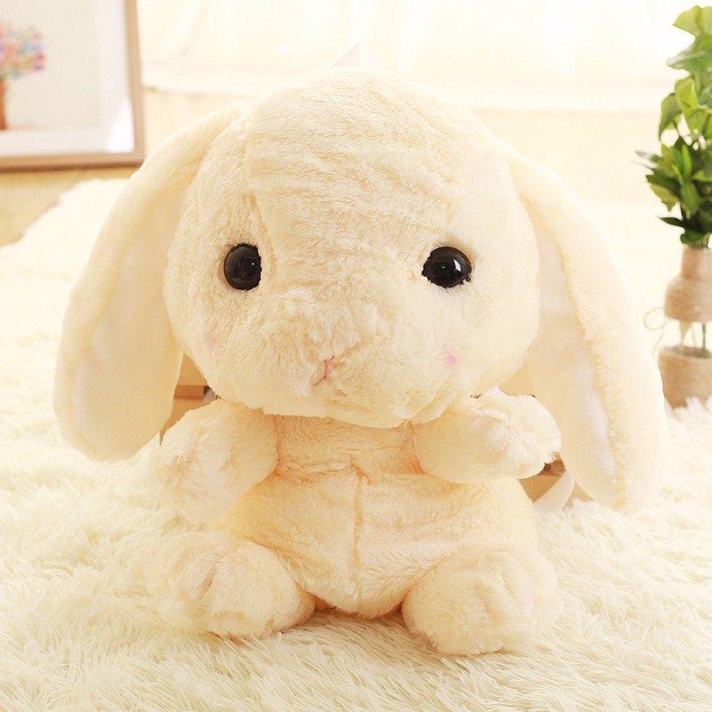 Cute rabbit plush backpack cartoon stuffed plush doll children school bag gifts for kids