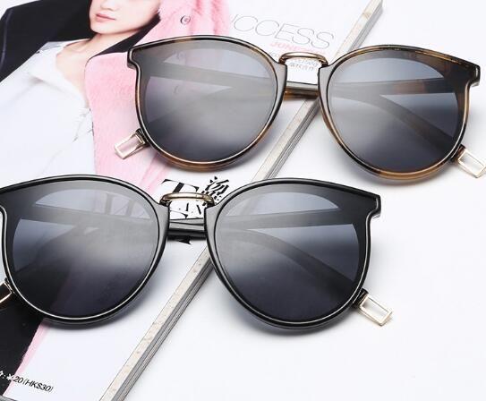 Round color film fashion face sunglasses HHX2
