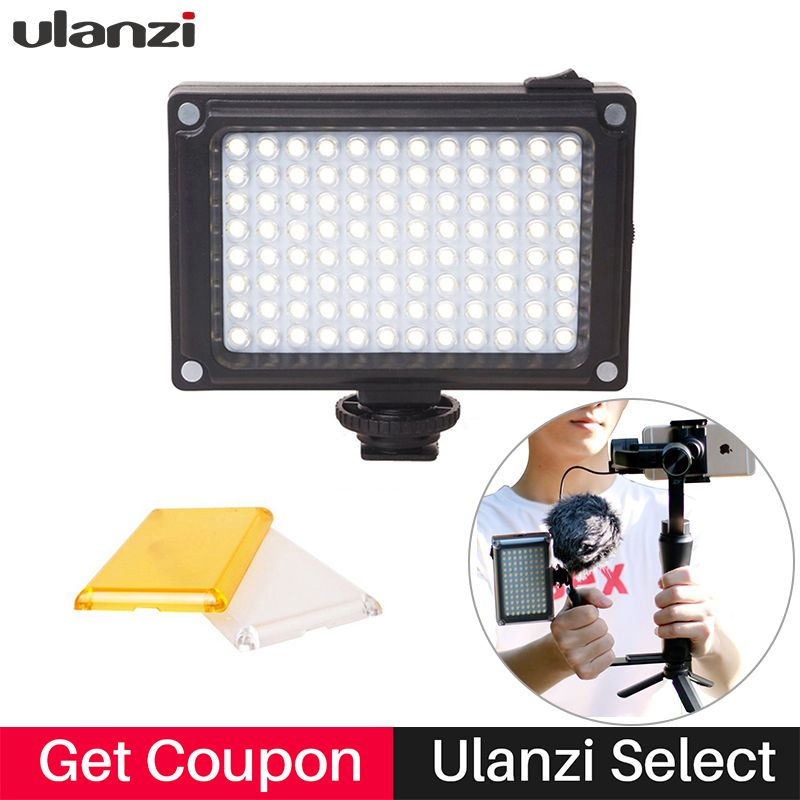 Ulanzi 96 Mini LED Video Light on Camera Photography Vlogging Live stream Video Lamp for <font><b>Nikon</b></font> Feiyu vimble 2 DJI Osmo Pocket