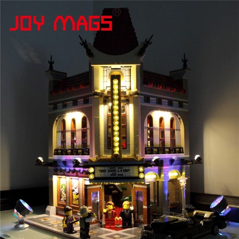 JOY MAGS Only Led Light Up Kit For Building Blocks 15006 Creator Palace Cinema 10232 Compatible With Lego Excluding Model