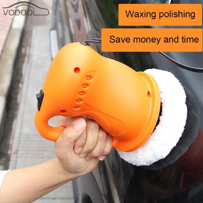 Portable DC 12V Car Polishing Waxing Machine Electric Paint Care Repair Tool Auto Electric Waxer Polisher Cigarette Lighter Plug