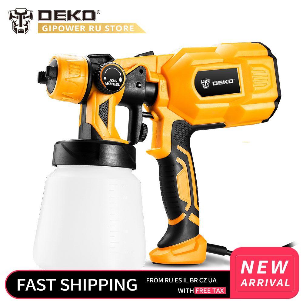 DEKO DKSG55K1 220V pistolet à main pulvérisateurs de peinture 550W haute puissance maison aérographe électrique pulvérisation facile 3 buse