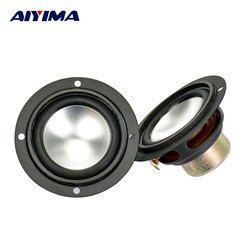 Aiyima 2Pcs Audio Tweeter Speakers Portable Aluminum Bottom PU Neodymium Magnetic Full Range Speaker 2.5Inch 6 Ohm 6W For SAMCO