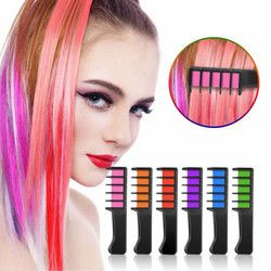 8 Colors Mini Disposable Personal Salon Use Temporary Hair Dye Comb Professional Crayons for Hair Color Chalk Hair Dyeing Tool