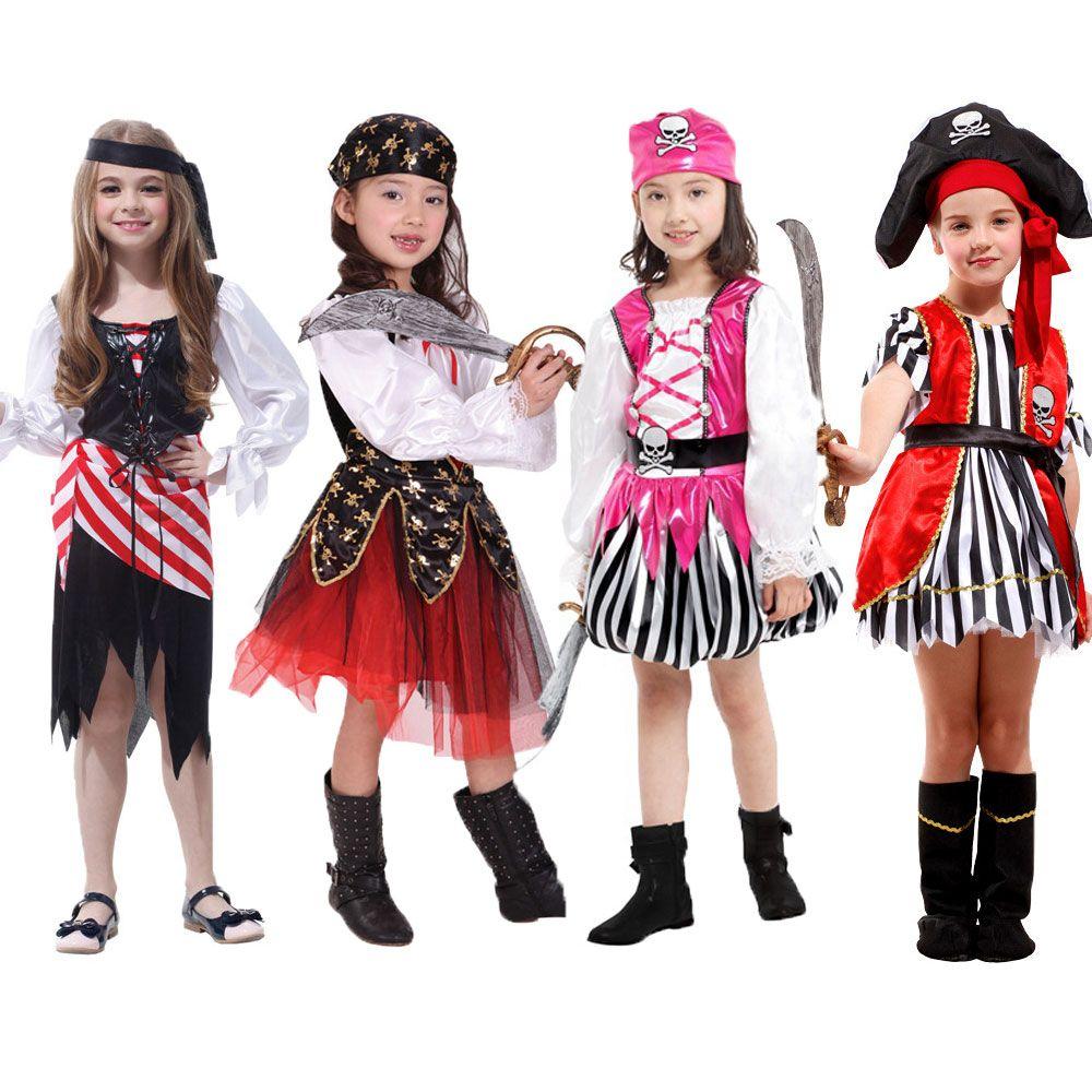 Хэллоуин Карнавал Детский костюм для вечеринок для девочек Обувь для девочек Дети пиратские костюмы Fantasia Infantil Карнавальная одежда