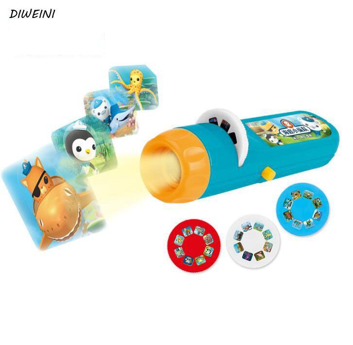1 Set Creative Children Kids Submarine Projector Flashlight Star Sky Projecton Lamp Coax Baby Sleep LED Luminous Toys