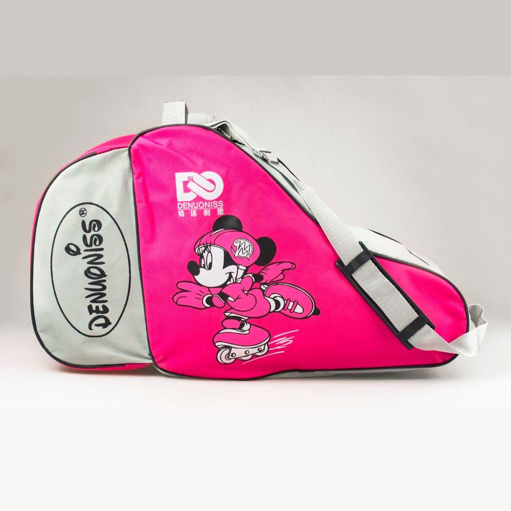 2018 NEW Kids Adult Lovely Cute Cartoon Ice Roller Skate Bag Portable Carry Bag Shoulder Bag Big Capacity Mouse Movie 55x22x33cm