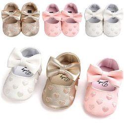USA Nouveau-Né En Bas Âge Fille Lit Chaussures Bébé Bowknot Doux Sole Prewalker Sneakers Soutien Drop Shipping