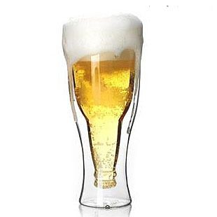1PC high quality heat resistant beer glass cup double layer 200ml,300ml,400ml OL 0132