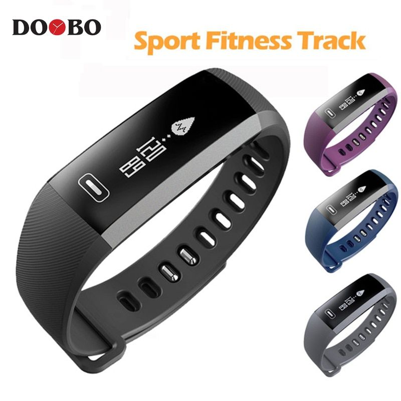 DOOBO Sport Bracelet Watch men Smart wristBand Fitness Tracker Heart rate Blood Pressure Oxygen Oximeter Watches intelligent R5