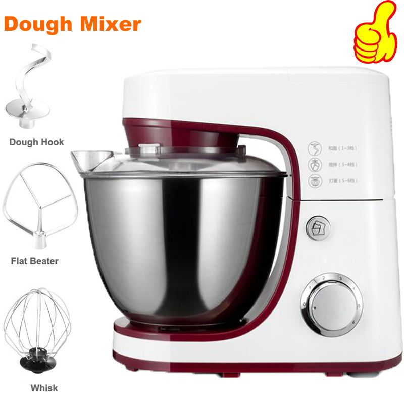 220V/1200W Electric Dough Mixer Professional Eggs Blender 4.2L Kitchen Stand Food Mixer Milkshake/Cake Mixer Kneading Machine