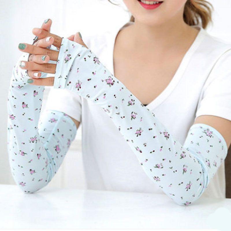 Summer ice sleeves anti-UV sleeves ladies UV block arm sleeves drive sunscreen gloves thin section
