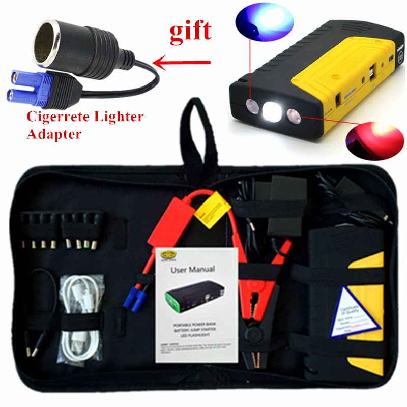Multi-function Starting Device Car Jumper 12V 600A Portable Car Charger For Car Battery Booster Diesel Petrol Auto Starter LED