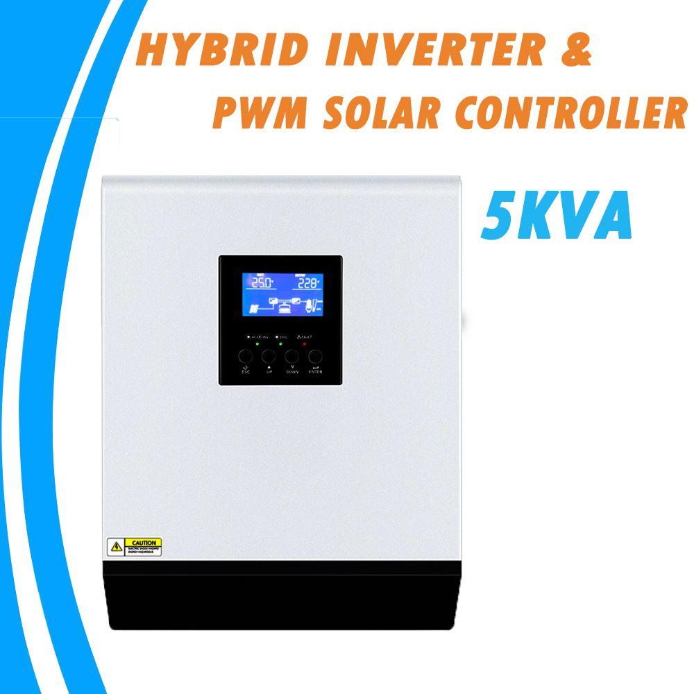 5KVA Reine Sinus Welle Hybrid Solar Inverter 48V 220V Integrierte PWM 50A Solar Laderegler und AC Ladegerät für Den Heimgebrauch PS-5K