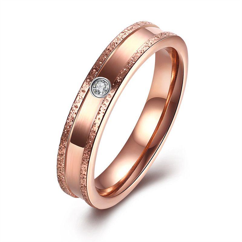 Women ring set style (1pc ring only) KJ-TGR131-B, 18K rose gold color, Men style KJ-TGR132-D, suggest order by set