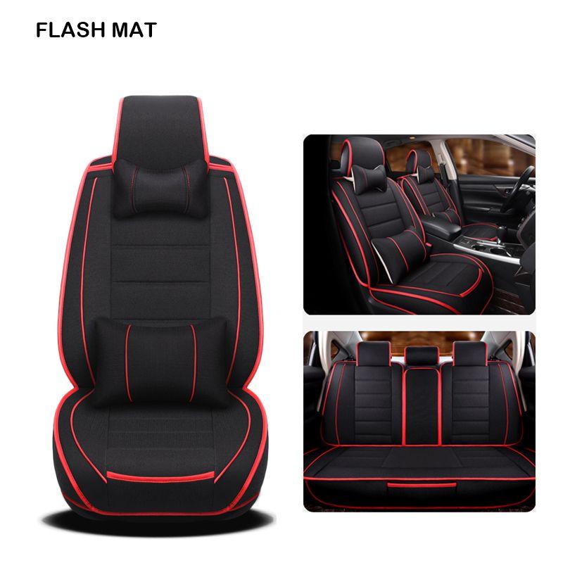 flax car sear covers for hyundai solaris getz Elantra Tucson veloster creta i20 i30 ix35 i40 car accessories Car seat protector