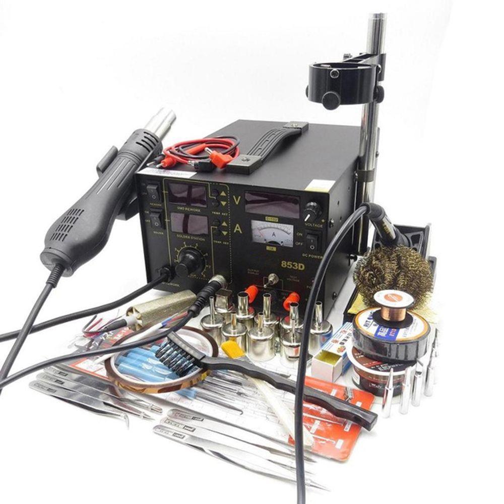 NEUE 853D 110 V/220 V SMD DC Stromversorgung Heißluftpistole Lötkolben Rework Lötstation mit das Geschenk Für SMT Schweißen Reparatur