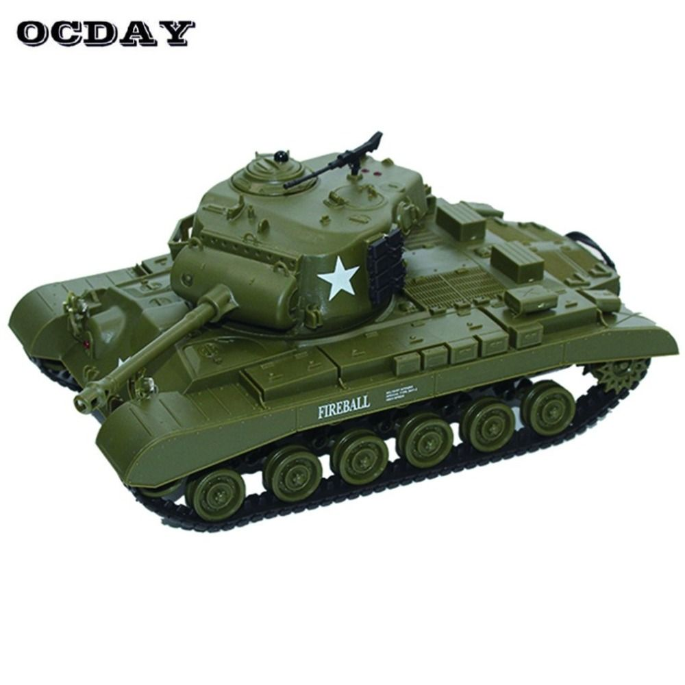 2.4G Infrared RC Battle M26 Emmagee Remote Control Tank & Pershing Tank Cannon Remote Toys for Children Boys Best Gift fz