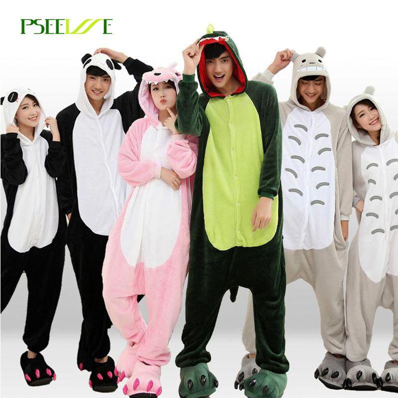 2017 Winter Pajama sets Women pijama unicornio Panda stitch unicornio onesies for adults Animal Pajamas Cartoon Cosplay pyjama